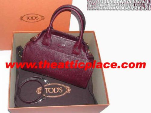 """Tods Limited Mini """"Girelli"""" East West Tote with Strap-0"""