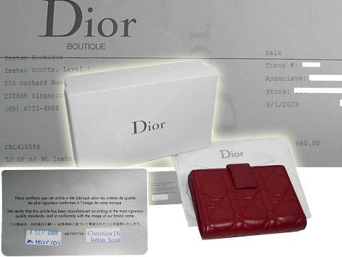 Dior CAL43058P Red Lambskin medium Charm wallet-0