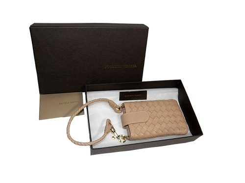Bottega Veneta Maple Woven Handphone/ Iphone Pouch/ bag Charm-0
