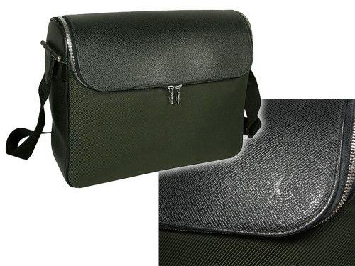 ALMOST NEW ! Louis Vuitton M30864 Taiga Dark Green Taimyr Camera Messenger Bag-0