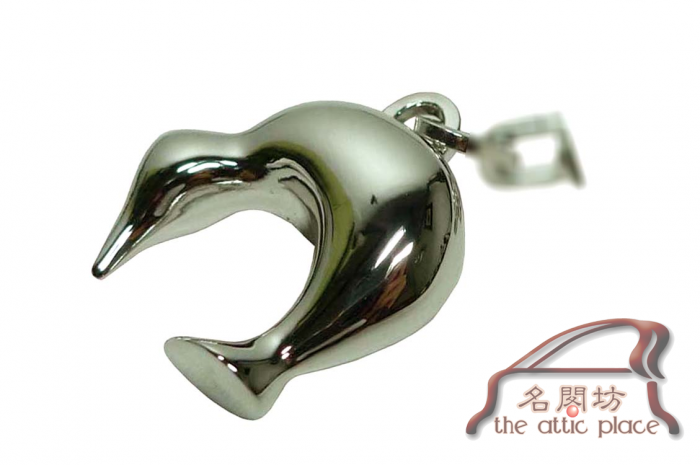 BRAND NEW ! Louis Vuitton Cup Dolphin Silver Key Ring-4323