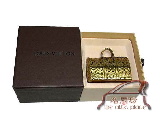 BRAND NEW ! Louis Vuitton Limited Colleciton Rare VIP Antiqued Brass Keepall Paperweight-0