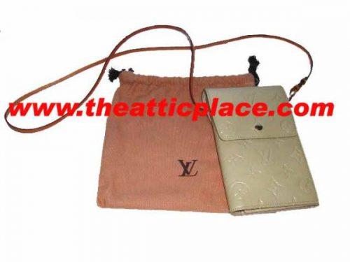 Louis Vuitton M91031 Beige Vernis Leather Walker Organizer Wallet-0