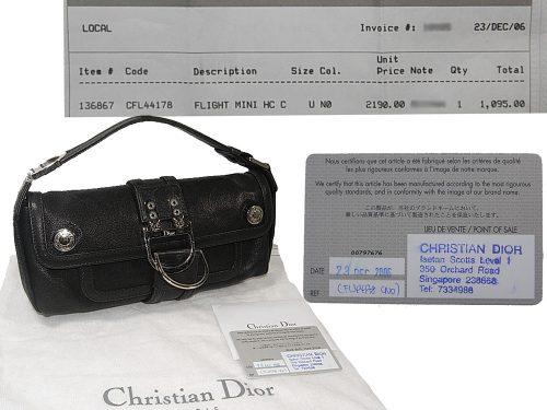 Dior Black Calf Flight Mini East West Tote Bag-0