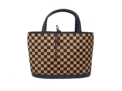 Louis Vuitton M92133 Limited Edition Pony Hair Damier Sauvage Impala Tote-0