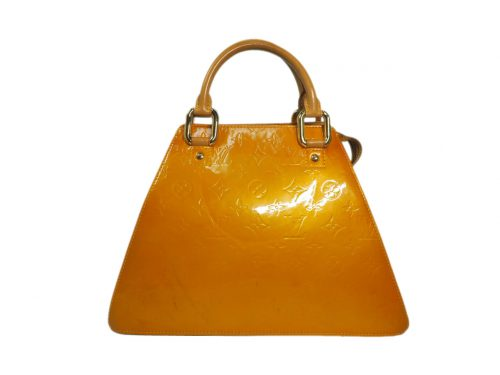 Louis Vuitton M91112 Limited Collection Yellow Vernis Leather Forsyth Tote -0