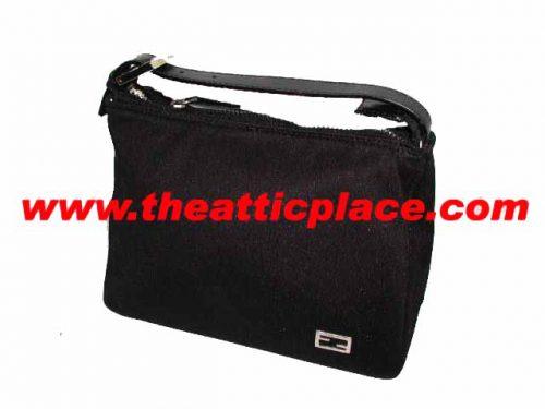 Fendi Black Nylon Accessory Pouch-0