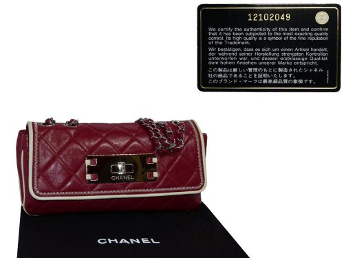 Chanel 12102049 Turlington Red Quilted East West with Silver Hardware -0