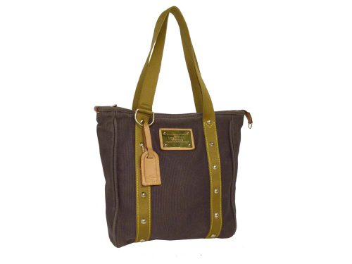 Louis Vuitton Brown / Khaki Antigue Cabas MM Document/ Shopping Bag (SP0036)-0