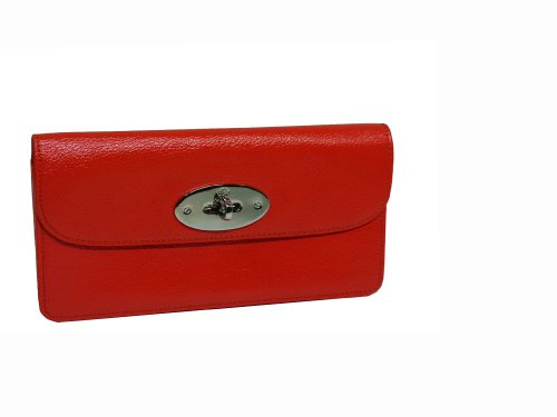Mulberry Bright Red Textured-Goat leather continental wallet-0