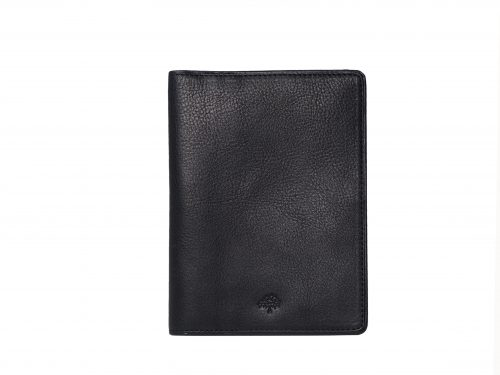 Mulberry Black Calf Leather Travel/ Passport Wallet Holder-0