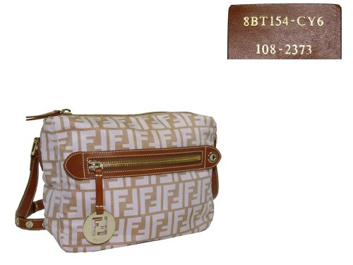 Fendi Pink Canvas Zucca Messenger Bag-0