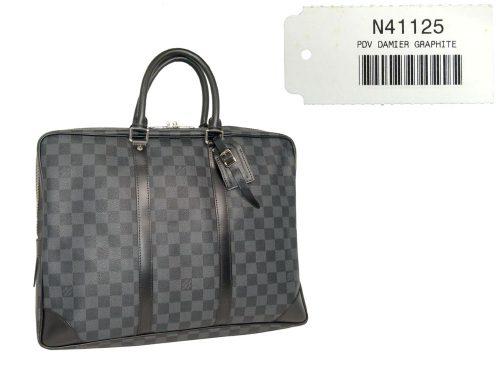 Louis Vuitton N41125 Damier Graphite Porte-Document Bag (BA0110)-0