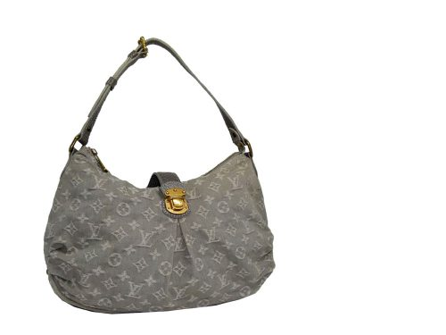 Louis Vuitton Denim Grey Hobo Small-0