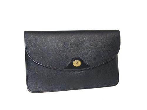 Dior Vintage Black Clutch-0
