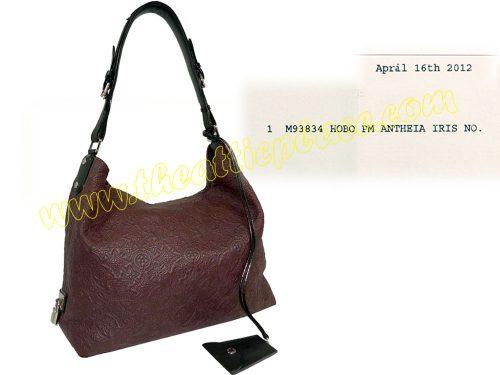 Louis Vuitton M93834 Logo Embossed Antheia Iris Small Hobo Bag-0