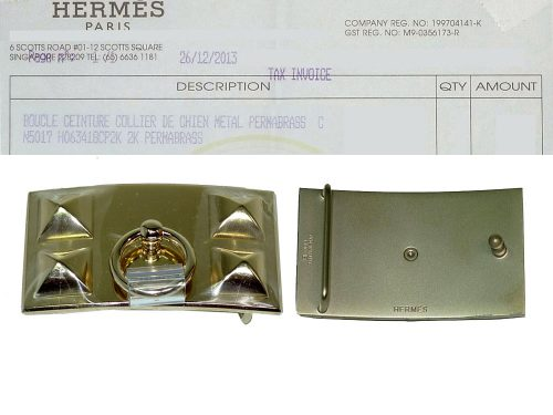 Hermes CDC Collier De Chien Buckle 32mm Gold Hardware with 80cm, 85cm, 90cm and 95cm Optional Size of Reversible Leather Belt -0