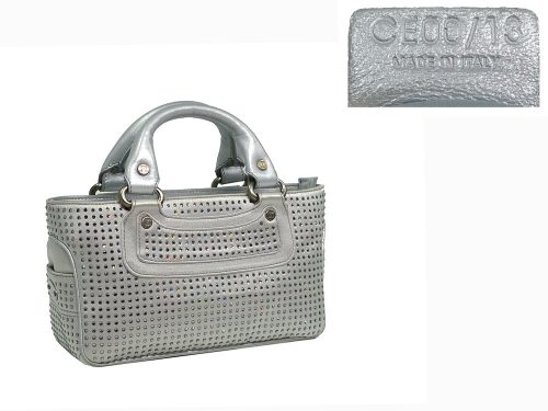 Celine Crystal Satin Silver Mini Boogie Limited Collection -0