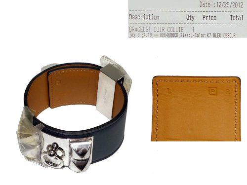 Hermes CDC Blue Obscur L Size P Stamp SHW-0