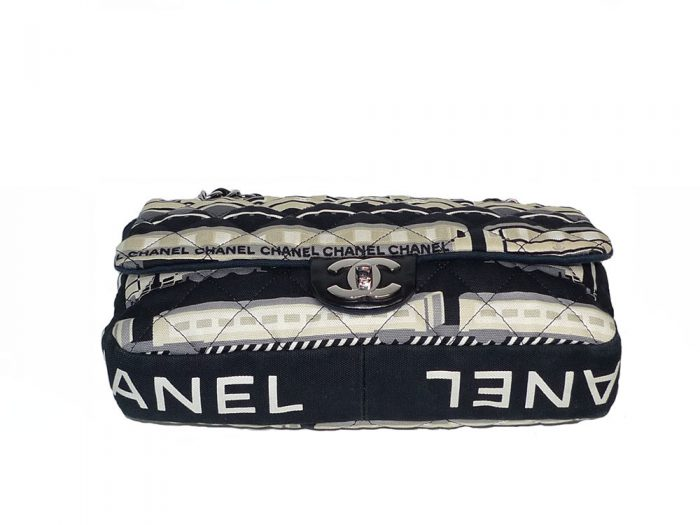 Chanel 11023789 Canvas Limited Classic Flap SHW-30388