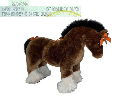 "Hermes ""Hermy"" PM Acrylic Polyes The Horse Plush Toy Large for Display-0"