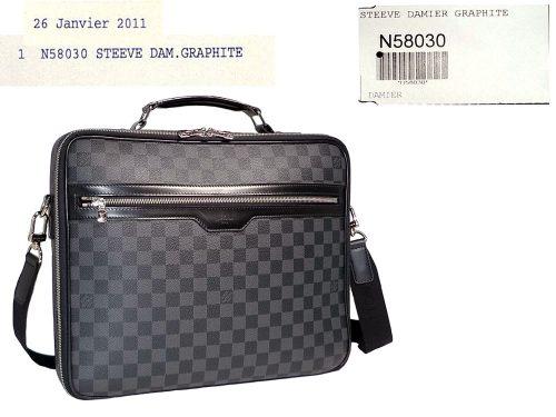 Louis Vuitton N58030 Steeve Damier Graphite Laptop Travel Luggage-0