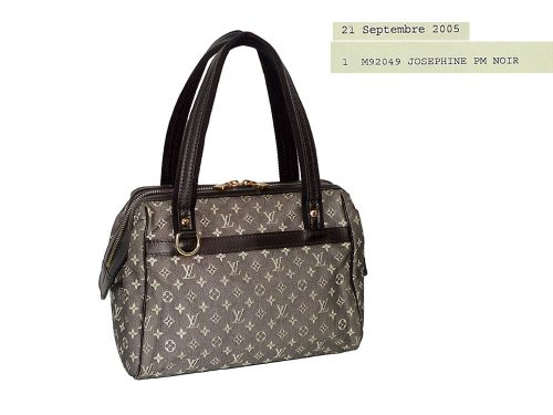 Louis Vuitton M92049 Black Mini Monogram Josephine PM -0