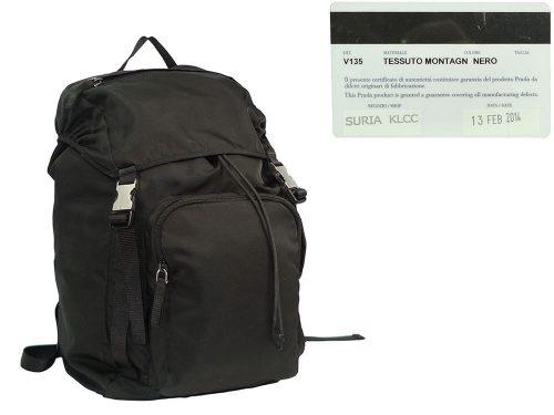 Prada V136 BlackTessuto Montagn Backpack Large-0