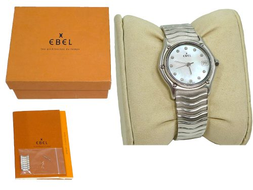 Ebel Woman Silver w diamond Classic Watch-0