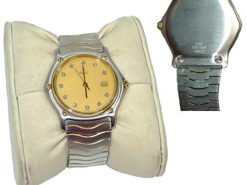 Ebel 183909/646 Unisex Gold/ Silver Classic Diamond Gold Face -0