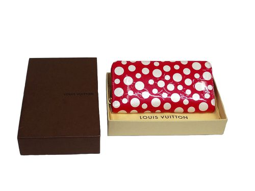 Louis Vuitton Dots Infinity M91572 Vernis Yayoi Kusama Zippy Long Wallet-0