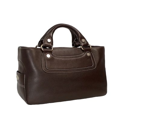 Celine Dark Brown Calf Leather Boogie Tote-0