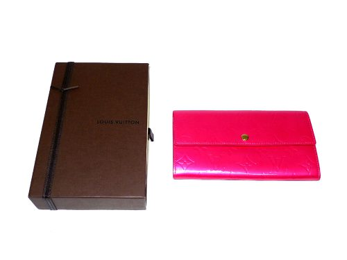 Louis Vuitton Vernis Fuschia Pink Sarah Wallet-0