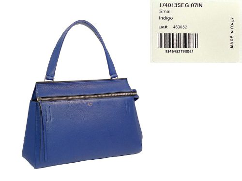 Celine 174013 Indigo Royal Blue Calfskin Small Edge Shopping Tote -0