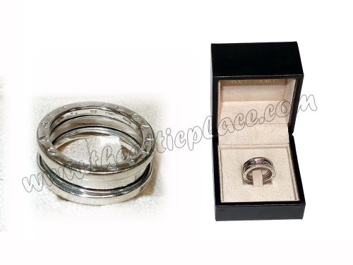 Bvlgari B.Zero 1 Silver Ring 725 Size 54 Tri Ring -0