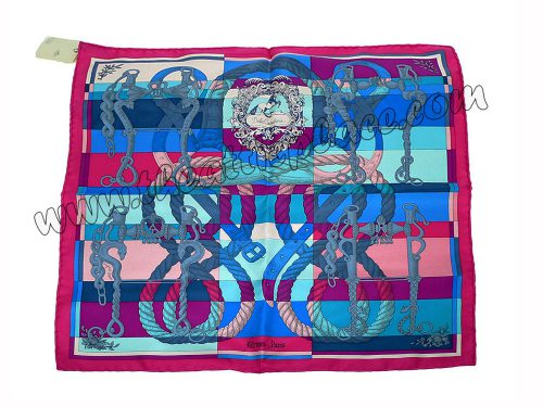 Hermes 45cm Twilly Silk Rose / Vif/ Fuschia Scarf-0