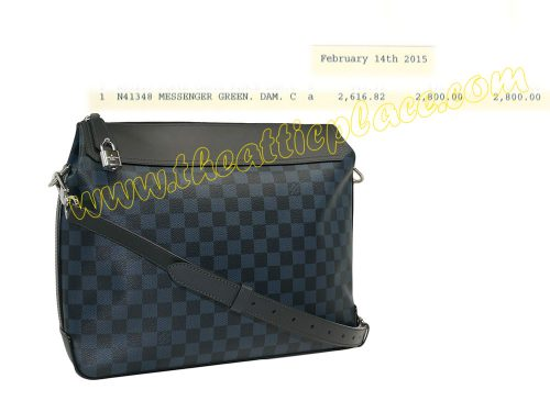 Louis Vuitton N41348 Damier Graphite Greenwich Laptop / Messenger Bag-0