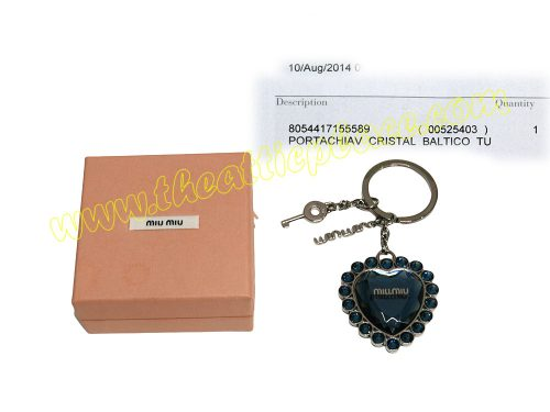 Miu Miu Blue Crystal Batico Key holder/ Bag Charm-0