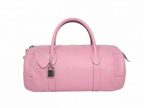 Hermes Pink Swift Polochon 32cm N Stamp Boston Tote Bag-0