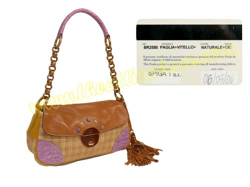 Prada BR2580 Limited Natural +CIC Vitello Accessories Pouch-0
