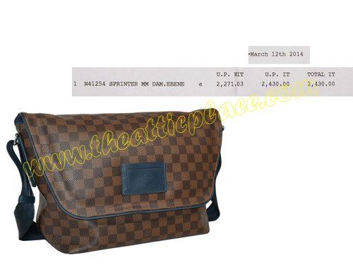 Louis vuitton N41254 Sprinter MM Damier Ebene (DU0134) Messenger Bag-0