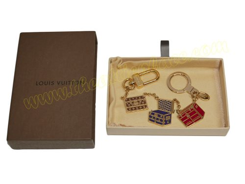 Louis Vuitton Limited Multicolor Trunks Gold-Tone Bag Charm-0