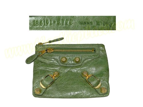Balenciaga 186191 Olive Green Giant 21 Gold Hardware Porte Monnaie Accessories / Coin Purse-0
