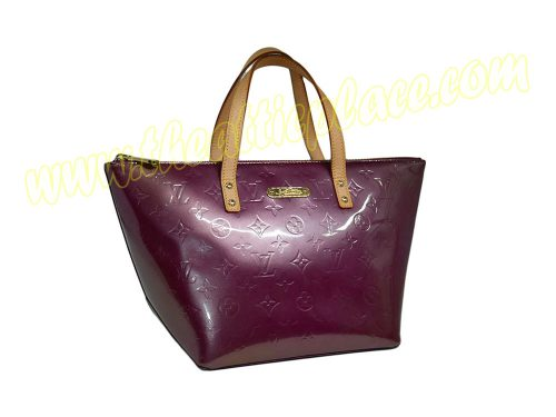 Louis Vuitton M93583 Vernis Rouge Fauviste Plum Bellevue PM -0