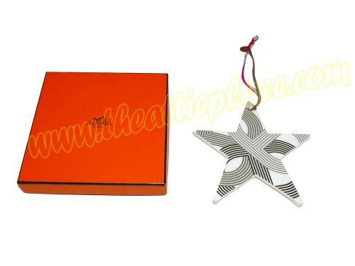 Hermes Petit H Limited Edition Porcelain Star Charm bag Charm for Birkin/ Kelly -0