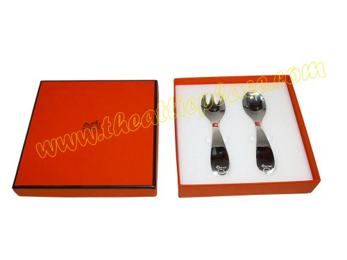 Hermes Silver Spoon and Fork Gift Set for All Occasions-0