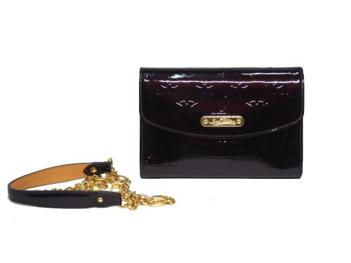 Louis Vuitton M93613 Bel Air Vernis Amarante Wallet on Chain / Chaine Wallet-0