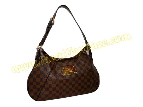 Louis Vuitton N48181 Damier Canvas Thames GM Hobo Bag (SP0059)-0