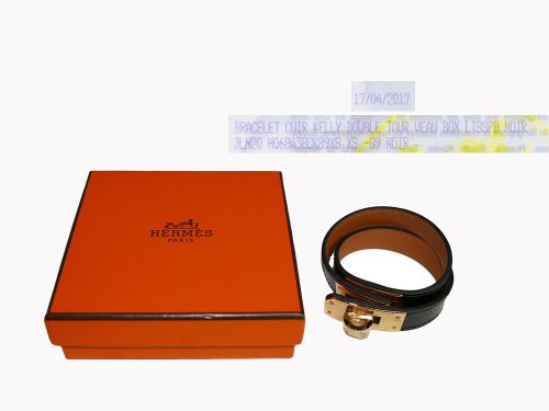 Hermes Kelly Double Tour Black Box Gold Hardware-0