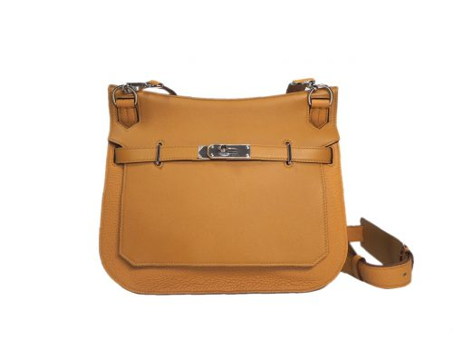 Brand New ! Hermes Jypsiere 28cm R Stamp Clemence /Swift Natural Sable /Ocre-0